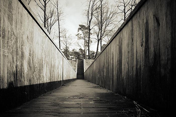 Kikvorsperspectief van de Mozesbrug bij Bergen op Zoom en Halsteren
