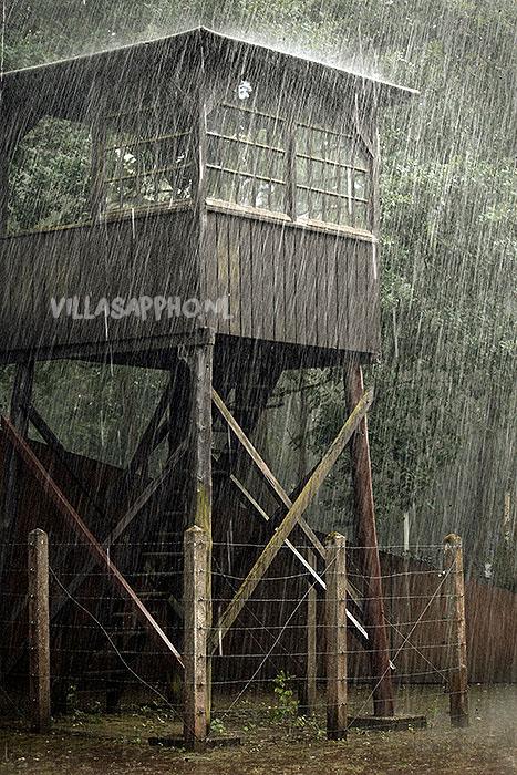 De wachttoren voor voormalig Kamp Amersfoort