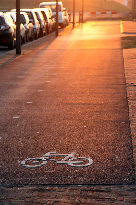 Ellende op het fietspad