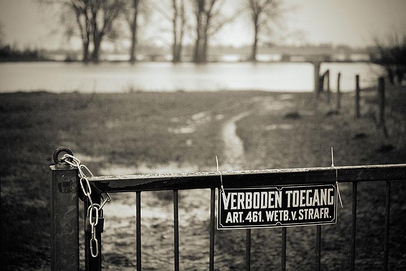 Fotoserie: Hoog water bij Nijmegen