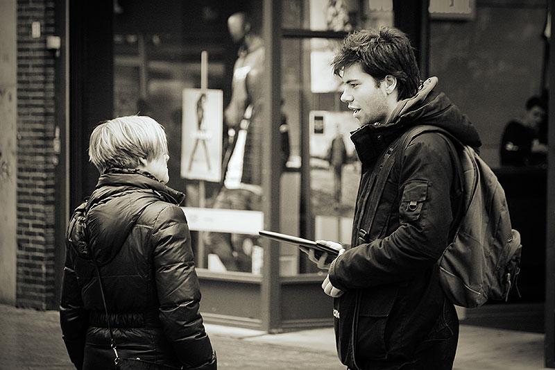 De straatverkoper