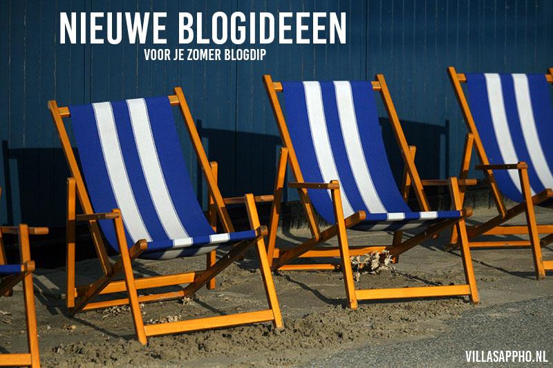 Blog ideeën tegen je zomer blogdip