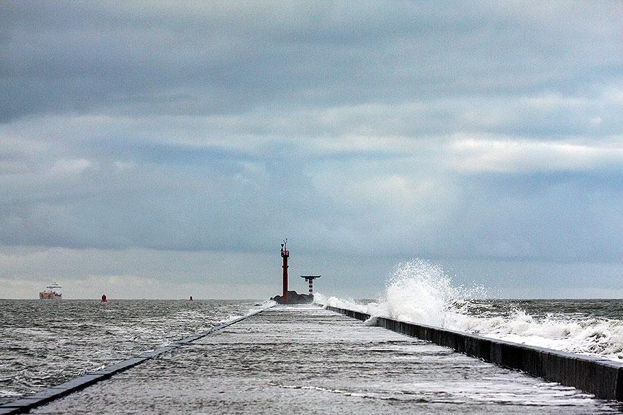 Fotoserie: Storm op het strand