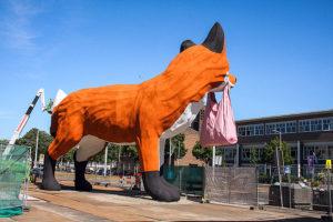 Keigrote kunst: Op vossenjacht in Rotterdam de Bospoldervos